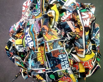 Star Wars Printed Fabric Scraps, Remnants, Assorted Camo Fabric Pieces, Fabric Scraps