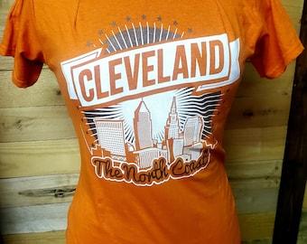 Deconstructed Cleveland Browns Off the Shoulder T Shirt