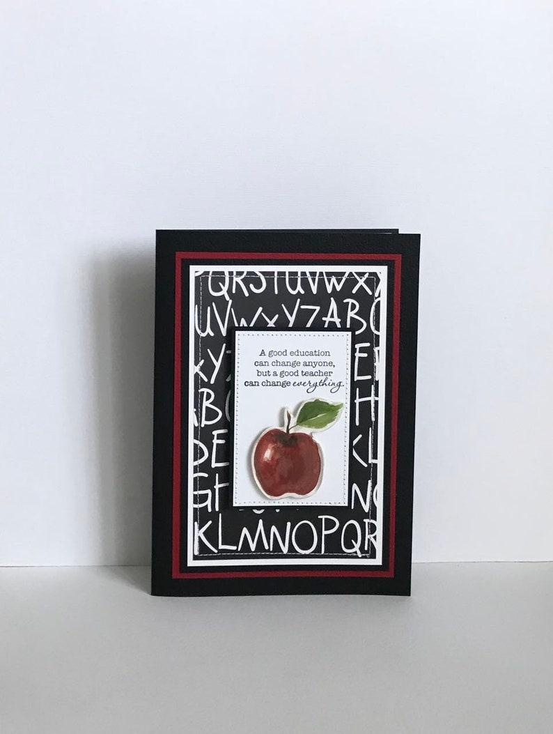 Teacher Handmade Card