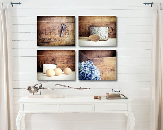 Farmhouse Kitchen Decor, Rustic Kitchen Wall Decor, Country Kitchen Wall  Decor, Farmhouse Kitchen Art Set, Fixer Upper, Farmhouse Canvas Art