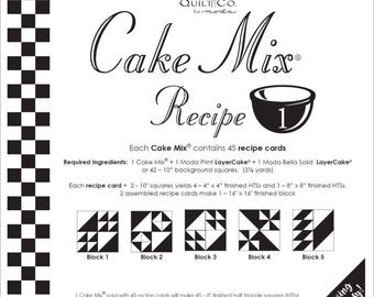 Cake Mix Recipe 1 by  Miss Rosie's Quilt Company for Moda-Paper Piecing Pad