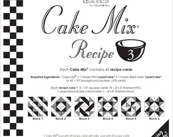 Cake Mix Recipe 3 by  Miss Rosie's Quilt Company for Moda-Paper Piecing Pad
