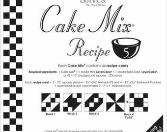 Cake Mix Recipe 5 by  Miss Rosie's Quilt Company for Moda-Paper Piecing Pad