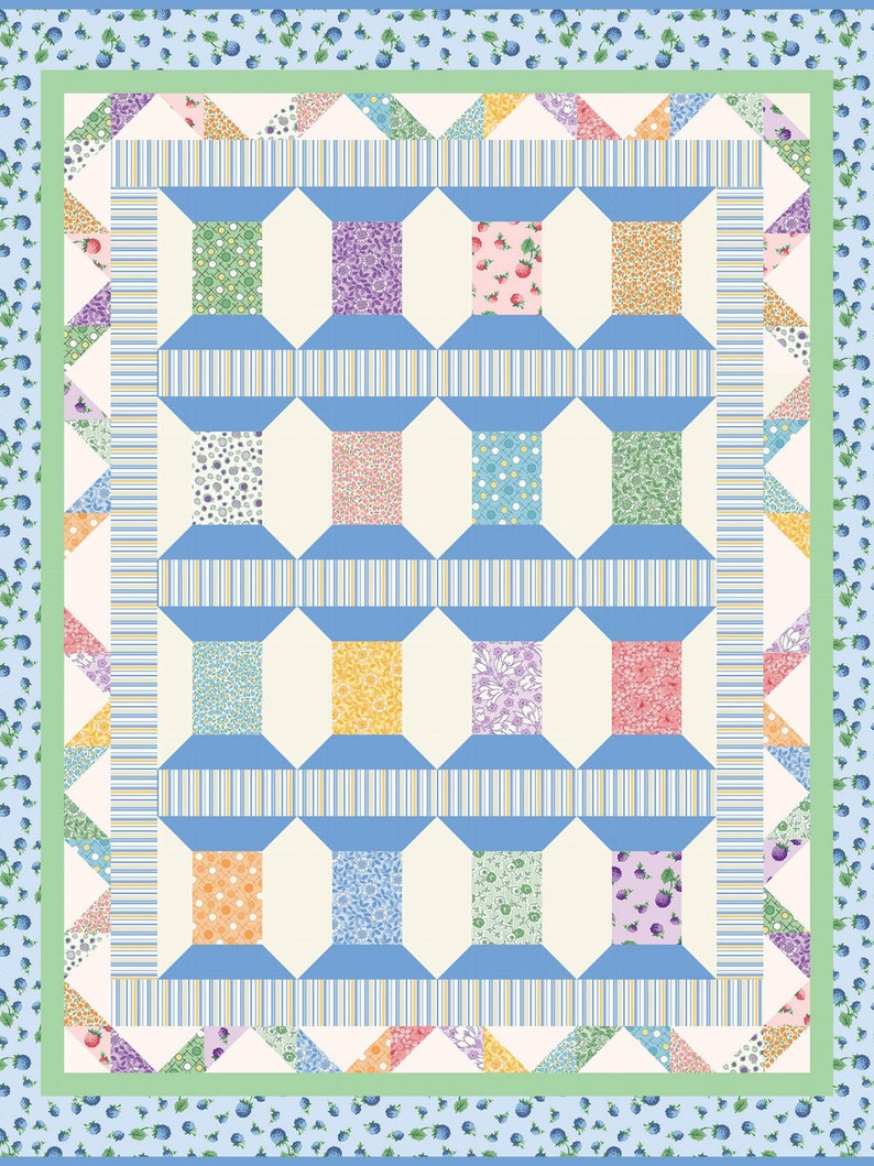 Cool Spools Berries and Blossoms Quilt Kit-SALE  50 /% OFF