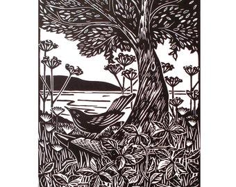 Merle de Cilgwri-lithographiée Original
