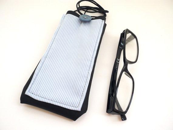 Portaocchiali da collo in pelle unisex custodia per occhiali