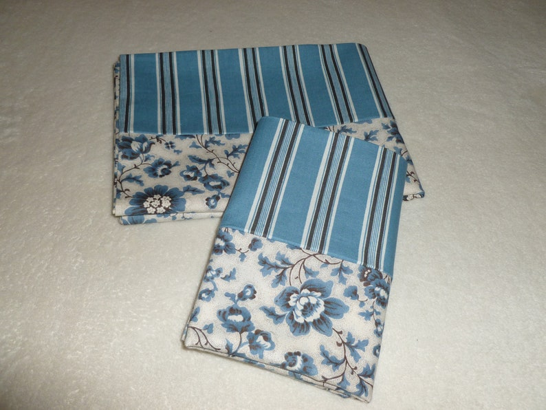 Set of 2 Standard Size Dusty Blue Pillowcases