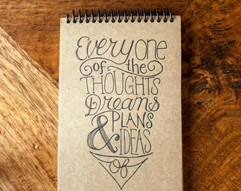 Thoughts, Dreams, & Ideas - Spiral Journal