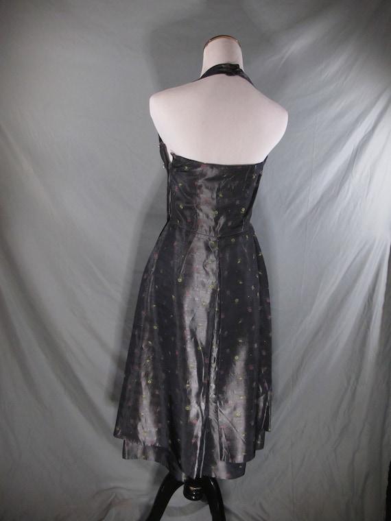 Vintage brocade halter wiggle dress 1950s - image 3