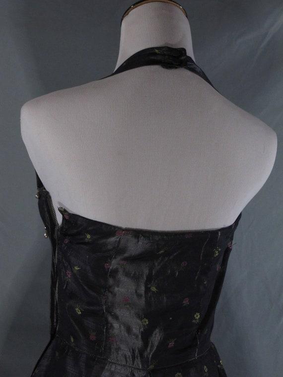 Vintage brocade halter wiggle dress 1950s - image 4