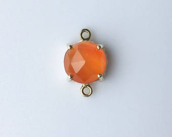 Orange , Carnelian Connector