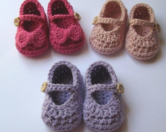 Baby Girl Crochet Mary Jane shoes