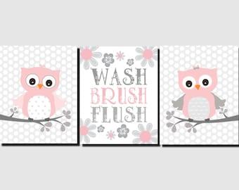 Owl Bathroom Decor Etsy