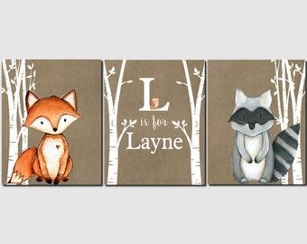 NOT CANVAS Fox Birth Print Fox Birth Announcement Fox Nursery Wall Art Navy Orange Gray Fox Nursery Decor Fox Baby Shower Gift 8X10 UNFRAMED PRINT