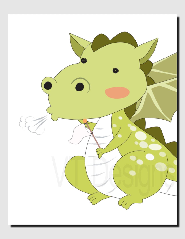 Dragon Wall Art Kids Wall Art Nursery Art Baby Boy Baby   Etsy