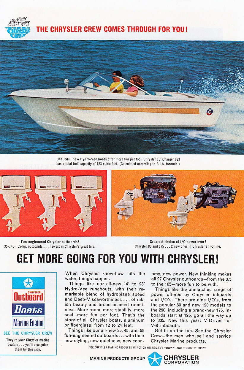 Chrysler Boats And Outboards 55 Hp Outboard Diagram Boat Motor Ad Etsy 822x1246