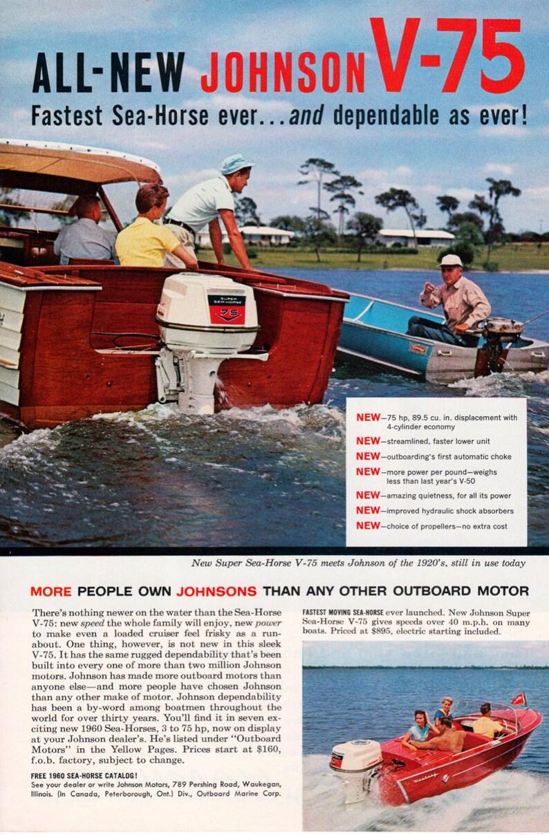 1960 Johnson Boat Motor Ad