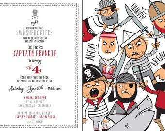 Swashbuckler Black & Red Invitation Only - Printable