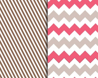 Brown and Pink Pattern Sheets