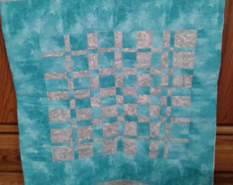 Lap quilt, baby quilt, light weight cover, free shipping