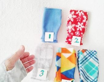 Warm fleece fingerless gloves, texting gloves, driving gloves, gift for her,