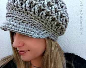Newsboy Crochet Hat Pattern for Super Bulky yarn - The Chunksta - Crochet  Pattern No.220 Digital Download English 055c0414ab2