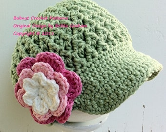 cd7938b3da4 Crochet Hat Pattern Bubnut Best Seller Newsboy Hat Crochet Pattern P207 4U  To Make Yourself English