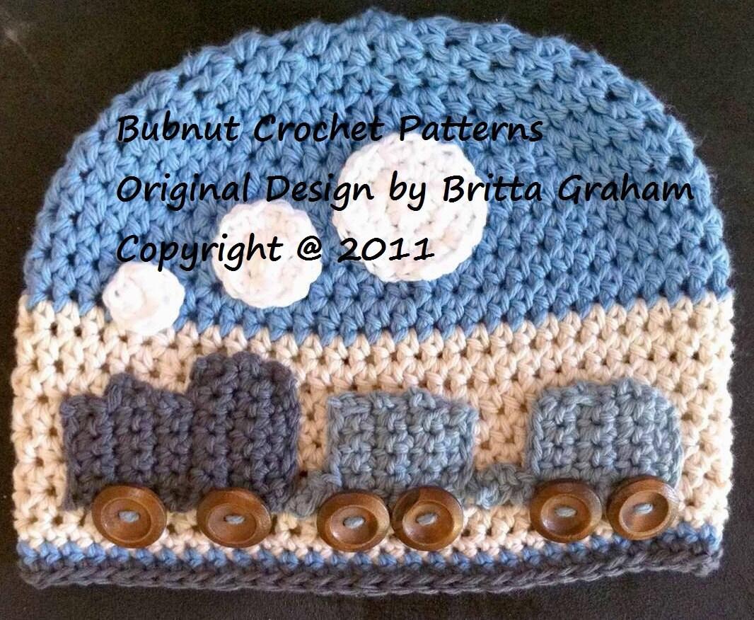 Easy Peasy Train Hat Crochet Pattern For Boys No109 Digital Etsy