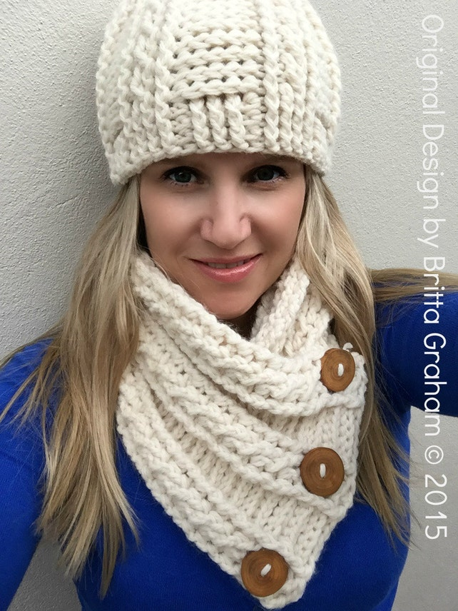 Cabled Scarf Crochet Pattern for chunky yarn Fisherman Neck | Etsy