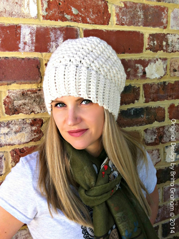 b61cdce9b5f Ribbsta Hat Pattern for women using chunky yarn Slouchy