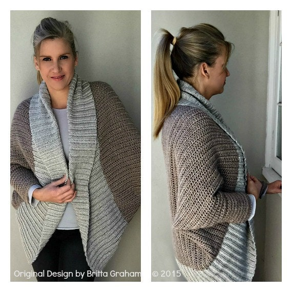 Crochet Shrug Pattern Oversized Sweater Cardigan Crochet Etsy