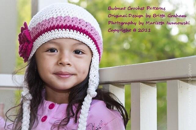 Crochet Hat Pattern Easy Peasy Earflap Hat Crochet Pattern Etsy
