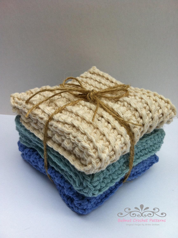 Three Modern Crochet Dish Cloth Patterns Scrubbies Instant