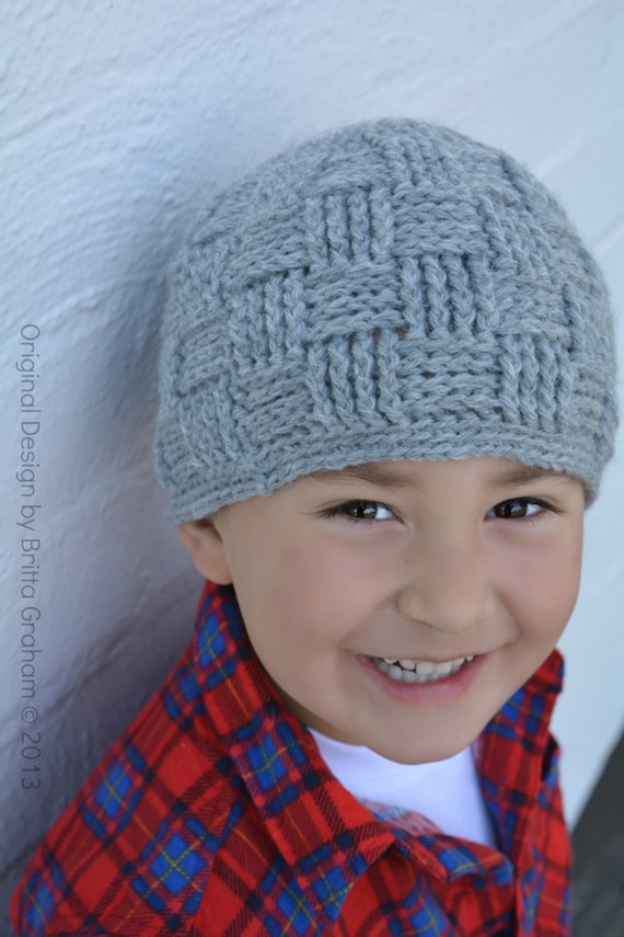 Boys Crochet Hat Pattern No.124 Basket Weave Baby Toddler Child Kid ...