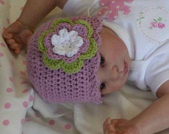 Crochet Hat Pattern - Easy Peasy Shell Trim Baby Hat Crochet Pattern No.103 EIGHT Sizes English