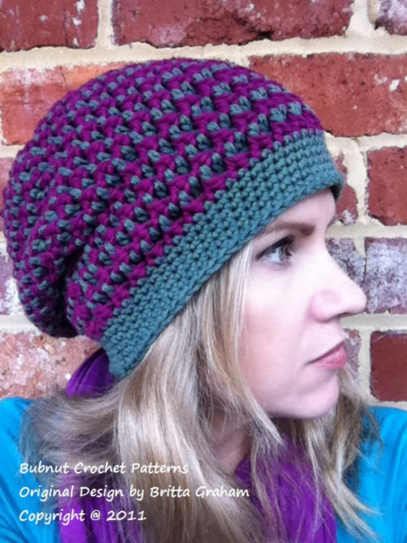 69a4aa77829 Slouchy hat pattern   textured slouchy beanie crochet pattern