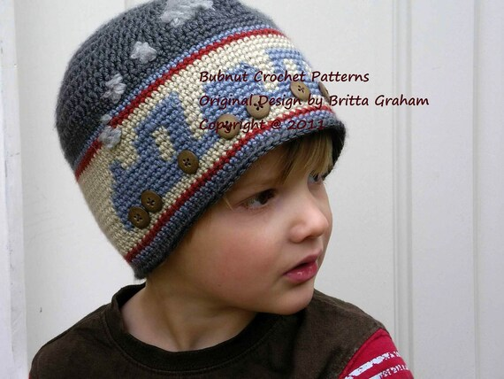 Choo Choo Train Crochet Hat Pattern No.402 FOUR Sizes DK  89f8220a87a