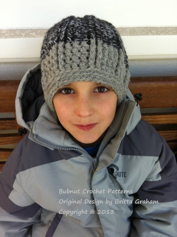 Crochet Hat Pattern For Boys In Bulky Yarn Funky Chunky Etsy