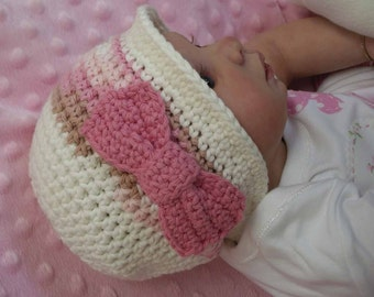 Baby Crochet Hat Pattern - Autumn Cloche with a Bow - Crochet Pattern No.105 English