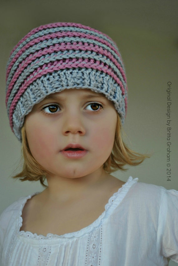 Crochet hat pattern slouchy P306 using Double Knitting DK  5cfd772534d
