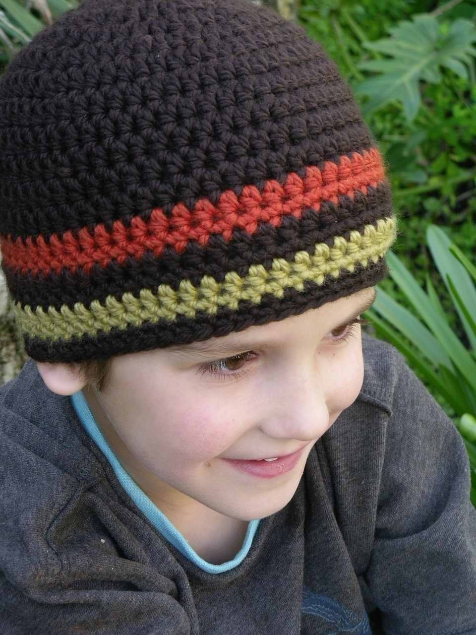 Crochet Hat Pattern Boys Easy Peasy Chunky Beanie Crochet