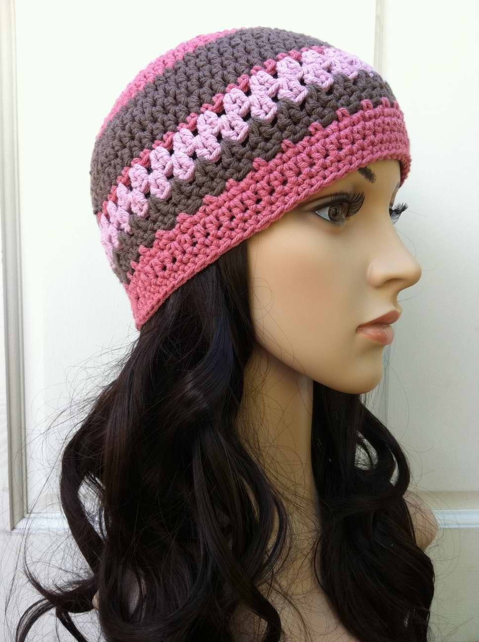 Ladies Crochet Hat Pattern Womens Beanie Pattern No208 Etsy