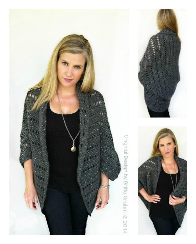 2654f0dda7270b Oversized Chunky Ladies Shrug Crochet Pattern No.920 Digital | Etsy