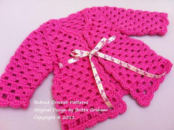 Crochet Baby Cardigan Pattern Sweater Crochet Pattern No905 Etsy