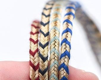 10 metri per fai da te e artigianato Edgeam Orange 7 mm di larghezza corda di cotone intrecciato naturale