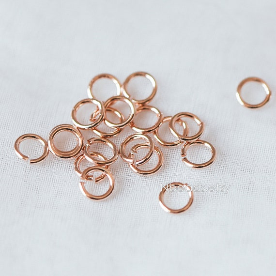 1000Pcs Silver Plated Open Ring 6x0.7mm