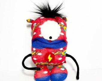 SUPER Arnie - Sockmonster - Little Monster - Small Friend - Baby Sock Toy