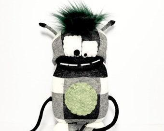 GLERT - Sock Monster - Plush Toy - Handmade Monster - Stuffed Toy - Friendly