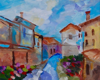 20 x 20 Giclee of Provence France from Original Modern Impressionist Painting by Rebecca Croft Studios