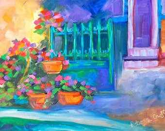 Paris French Art Wall Art Home & Office Decor Original Oil Fine Art Painting by Rebecca Croft Studios